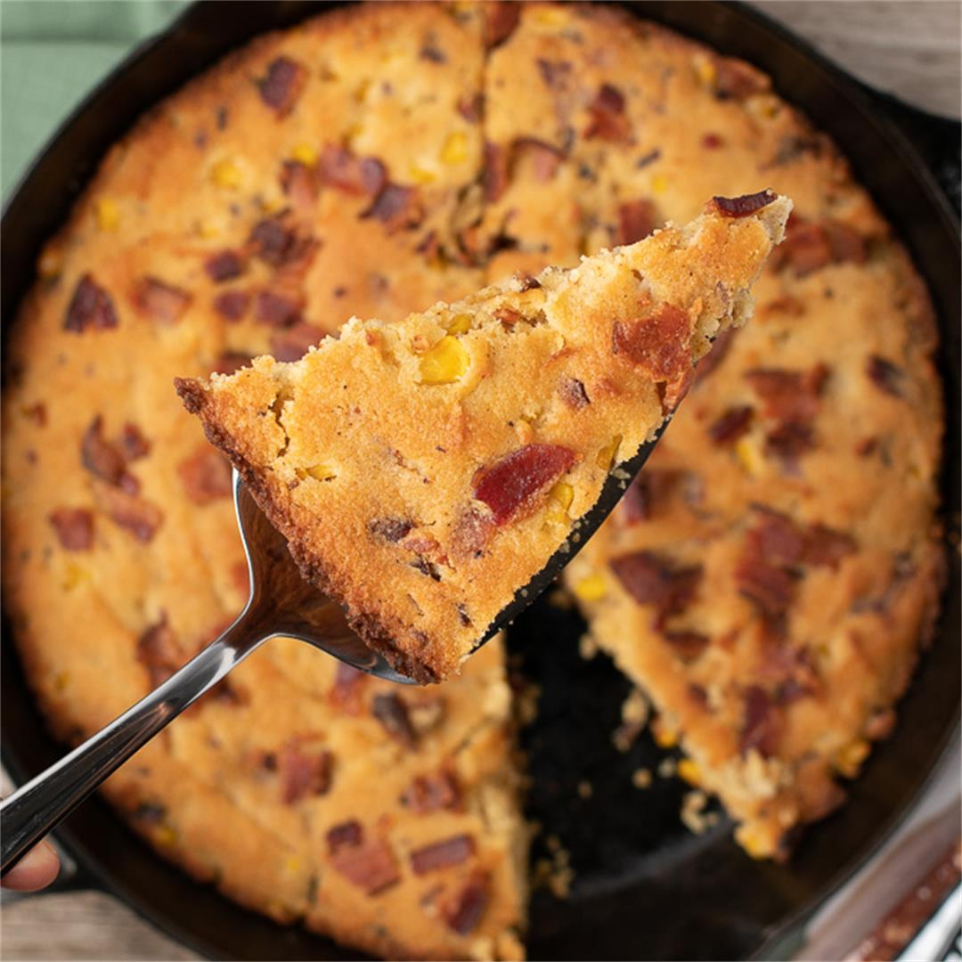 Keto Brown Butter Cornbread Recipe with Bacon