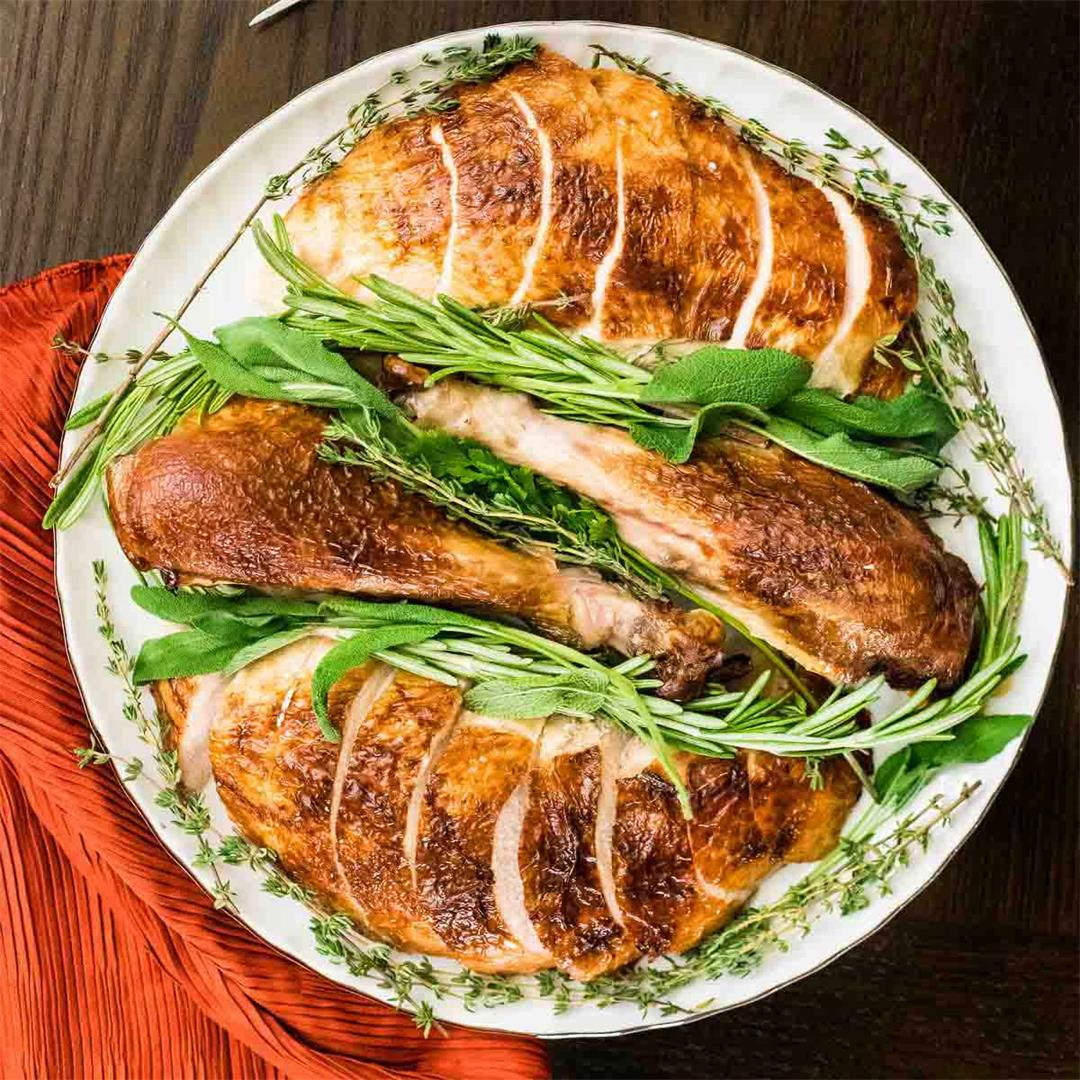 Herb Infused Buttermilk-Brined Turkey Recipe