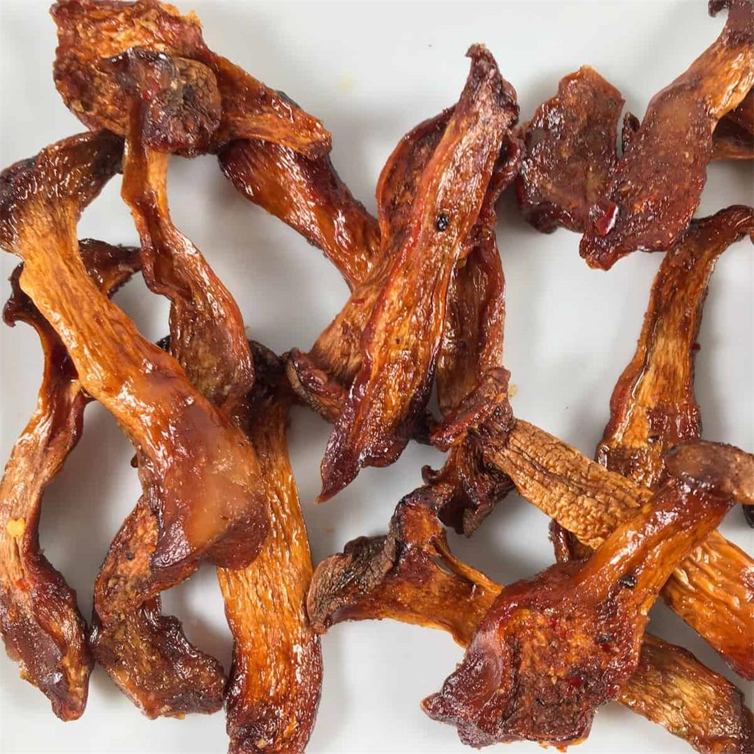 Air Fryer Jerky | Vegan Oyster Mushroom Jerky