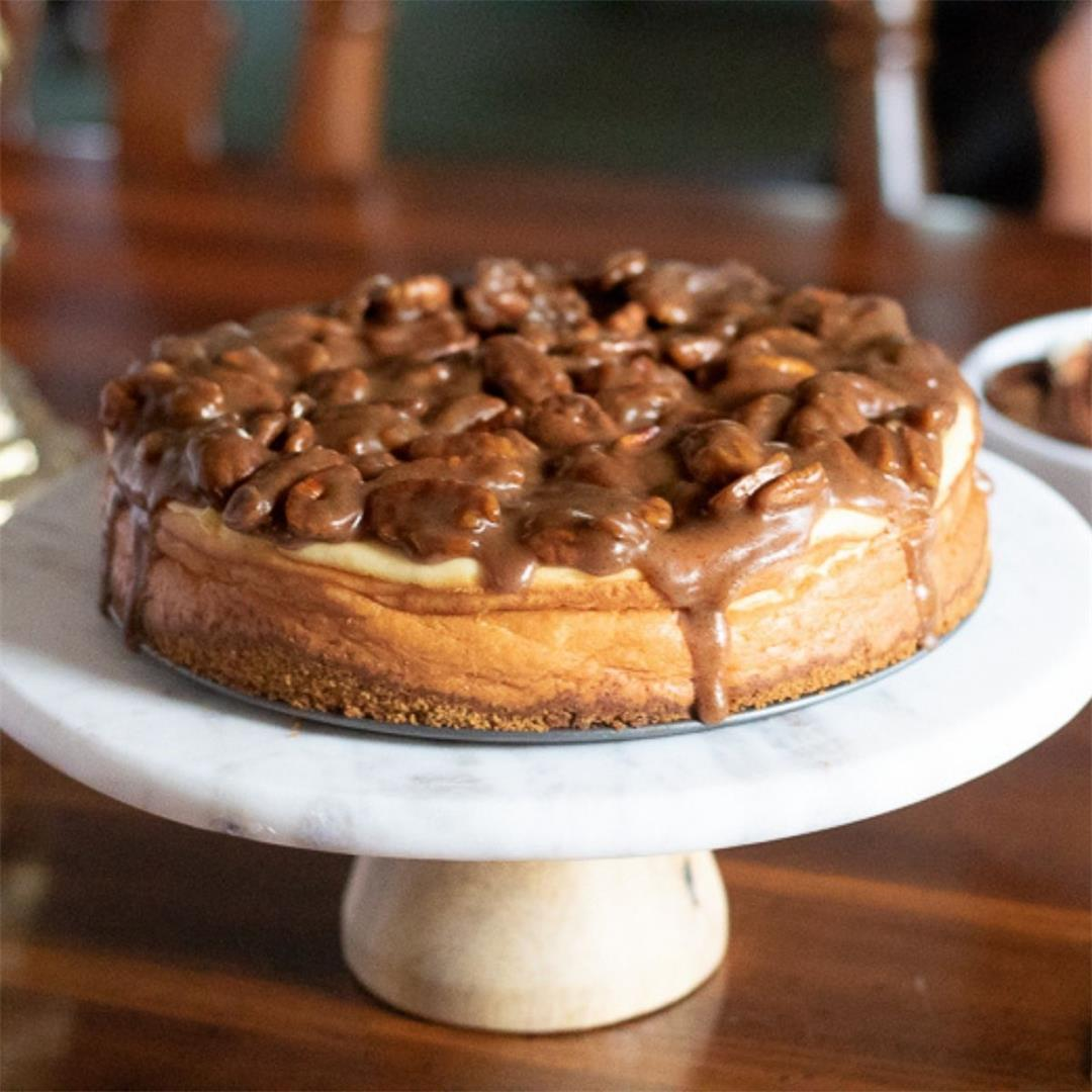 Pecan Pie New York Style Cheesecake