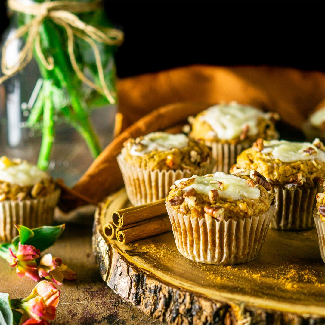 Sweet Potato Muffins With Ginger Cream Cheese Filling