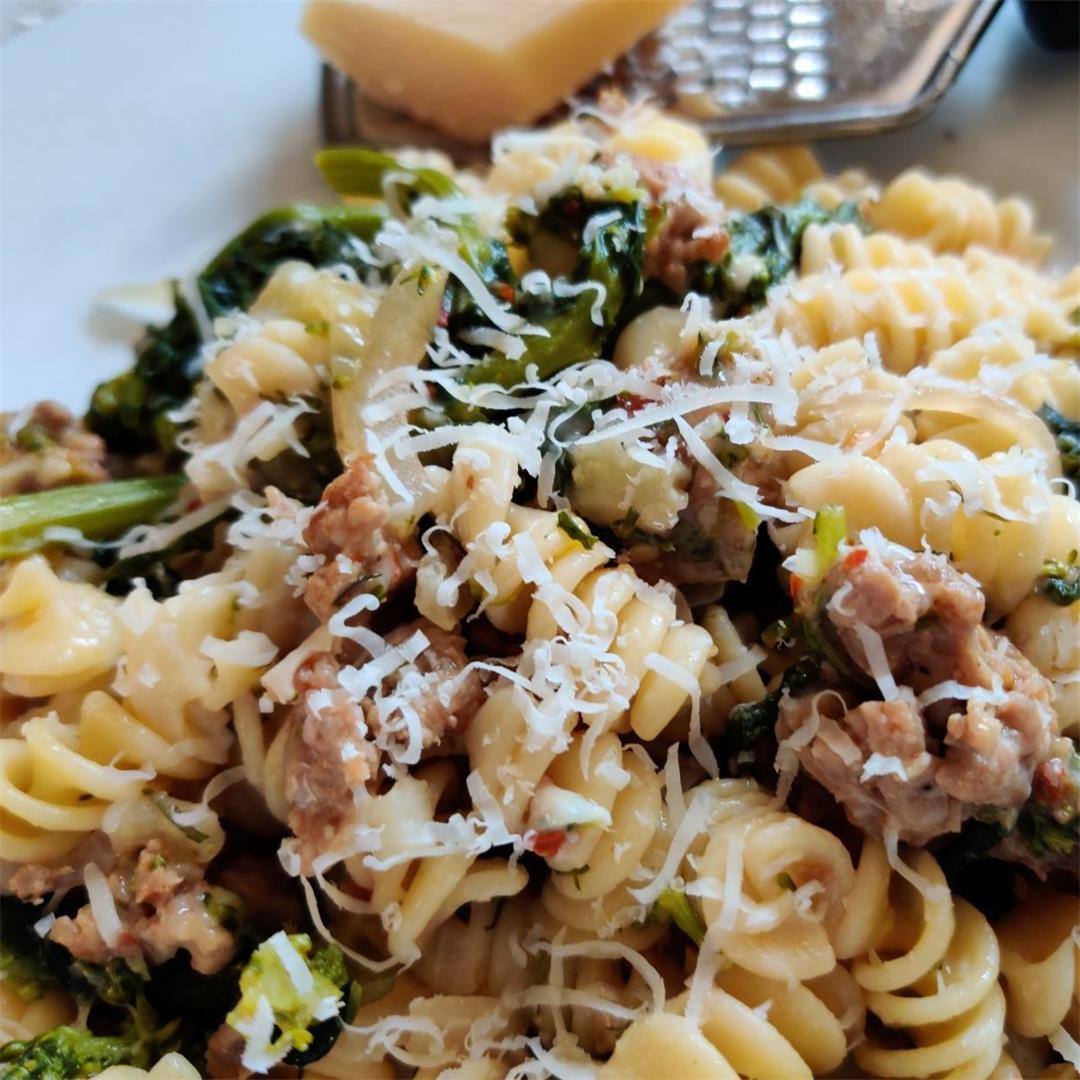 Sausage, Broccoli Rabe, and Fennel Pasta
