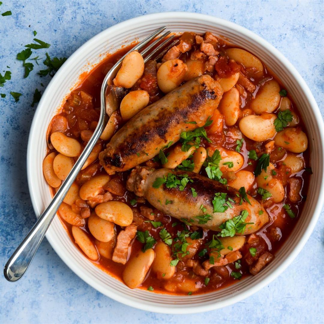 Slow Cooker Sausage & Butter Bean Casserole