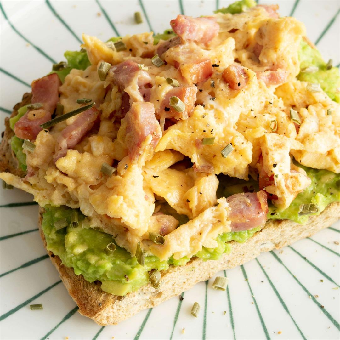 Bacon Scrambled Eggs & Avocado Toast
