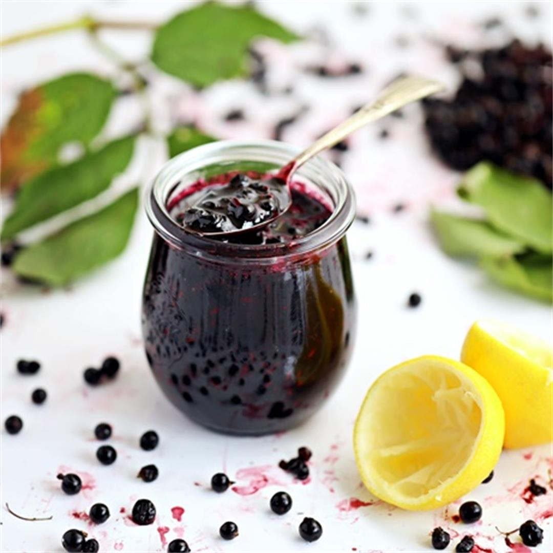Simple Elderberry Jam with step-by-step video tutorial!