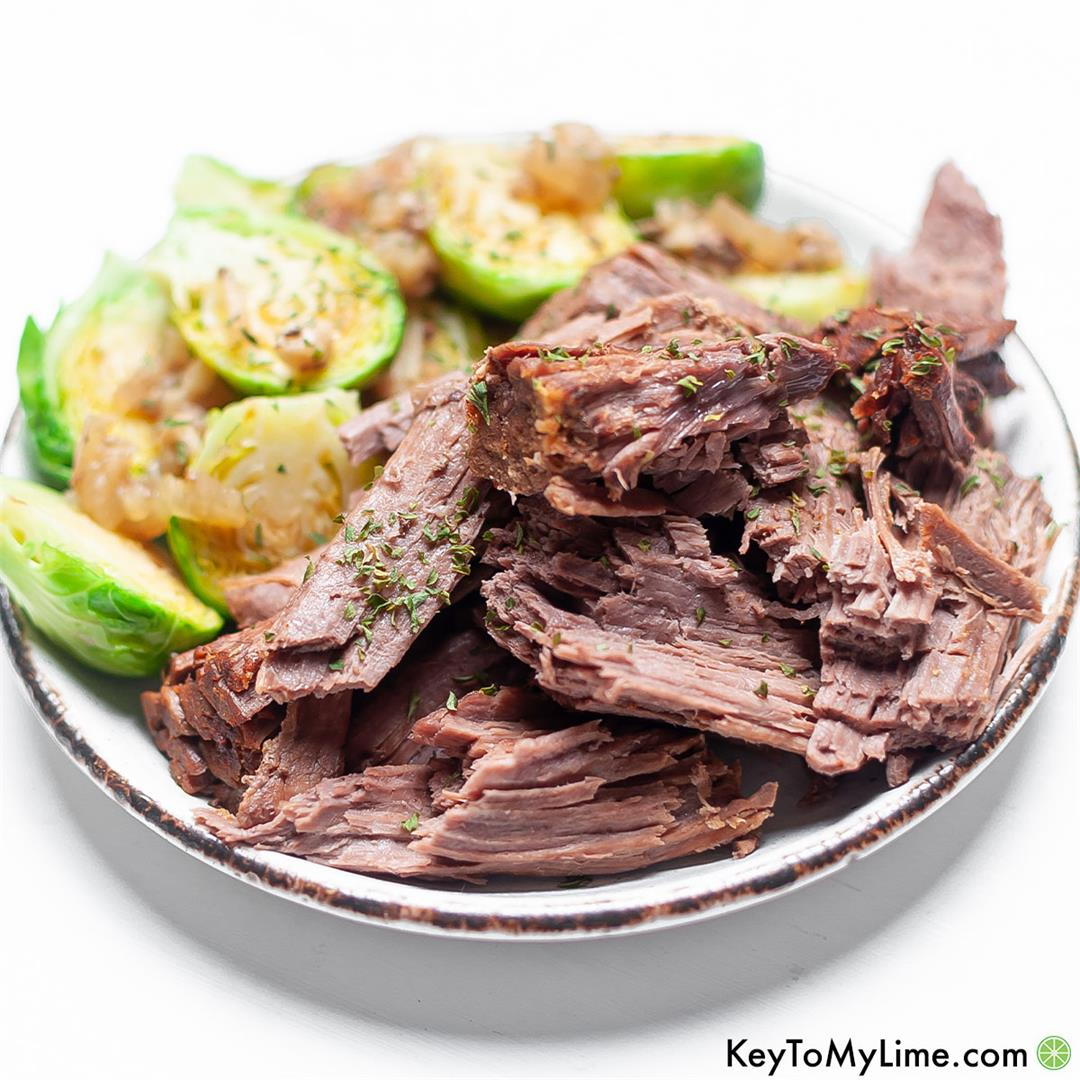 Instant Pot Frozen Roast - The BEST Pot Roast! - Key To My Lime