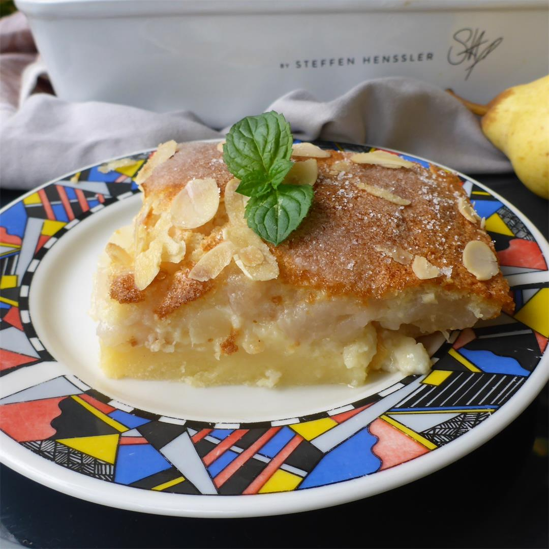 French Pear Custard Pie (Flan Aux Poires)