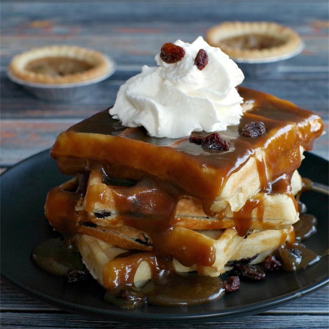 Butter Tart Waffles