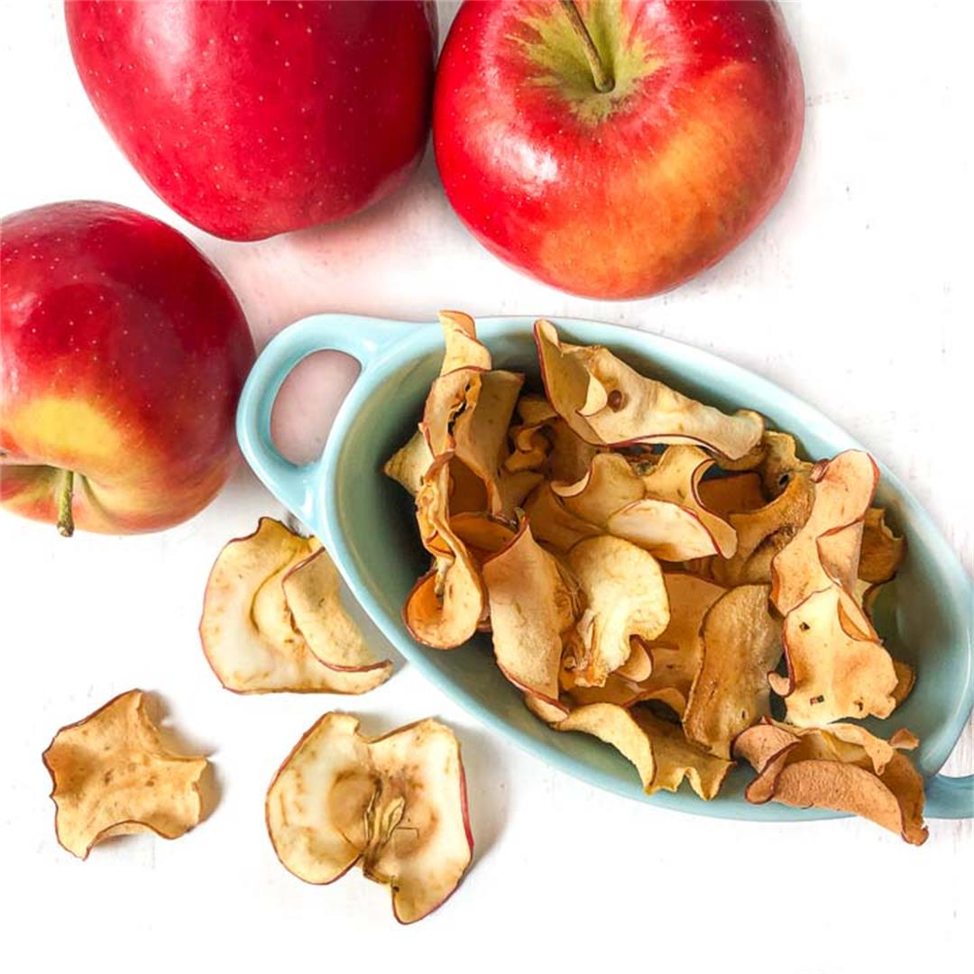 Healthy Apple Chips Recipe in the Air Fryer