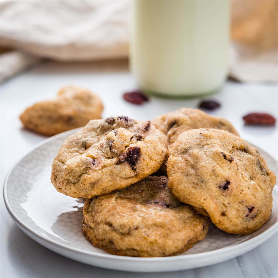 Melt In Your Mouth Dried Cherry Pecan Cardamom Cookies