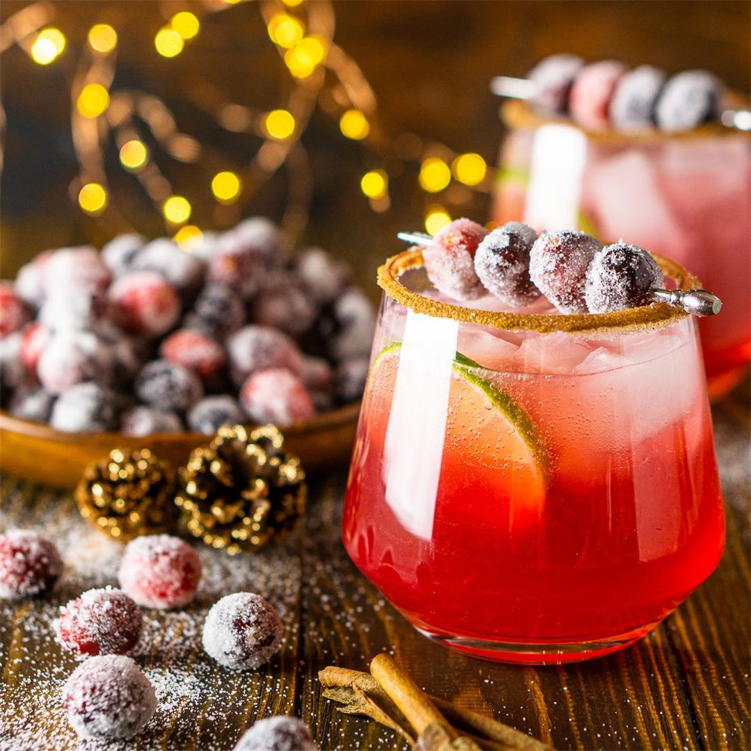 Sparkling Cranberry-Ginger Margarita