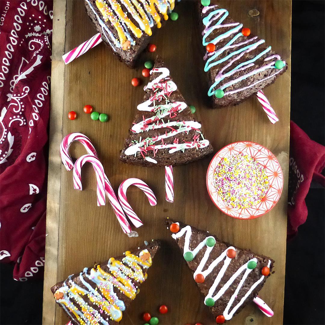 Spelt Brownie Christmas Trees
