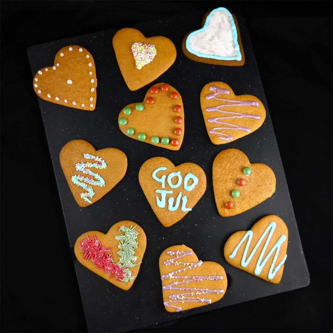 Swedish Spelt Pepparkakor (Gingerbread Cookies)