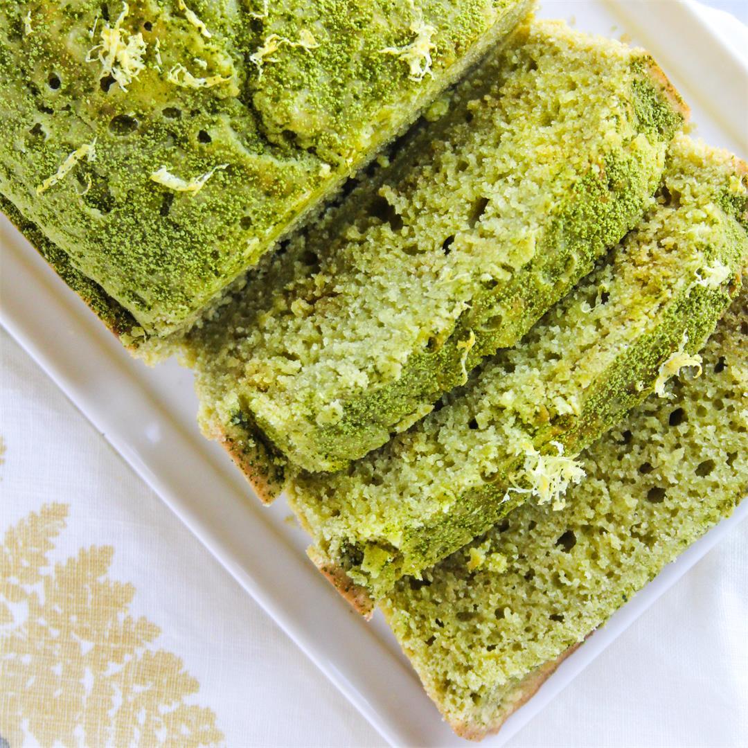 Matcha Lemon Loaf Cake