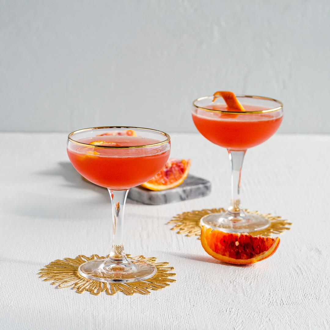 Solerno Cocktail called the Blood Orange Star Ruby