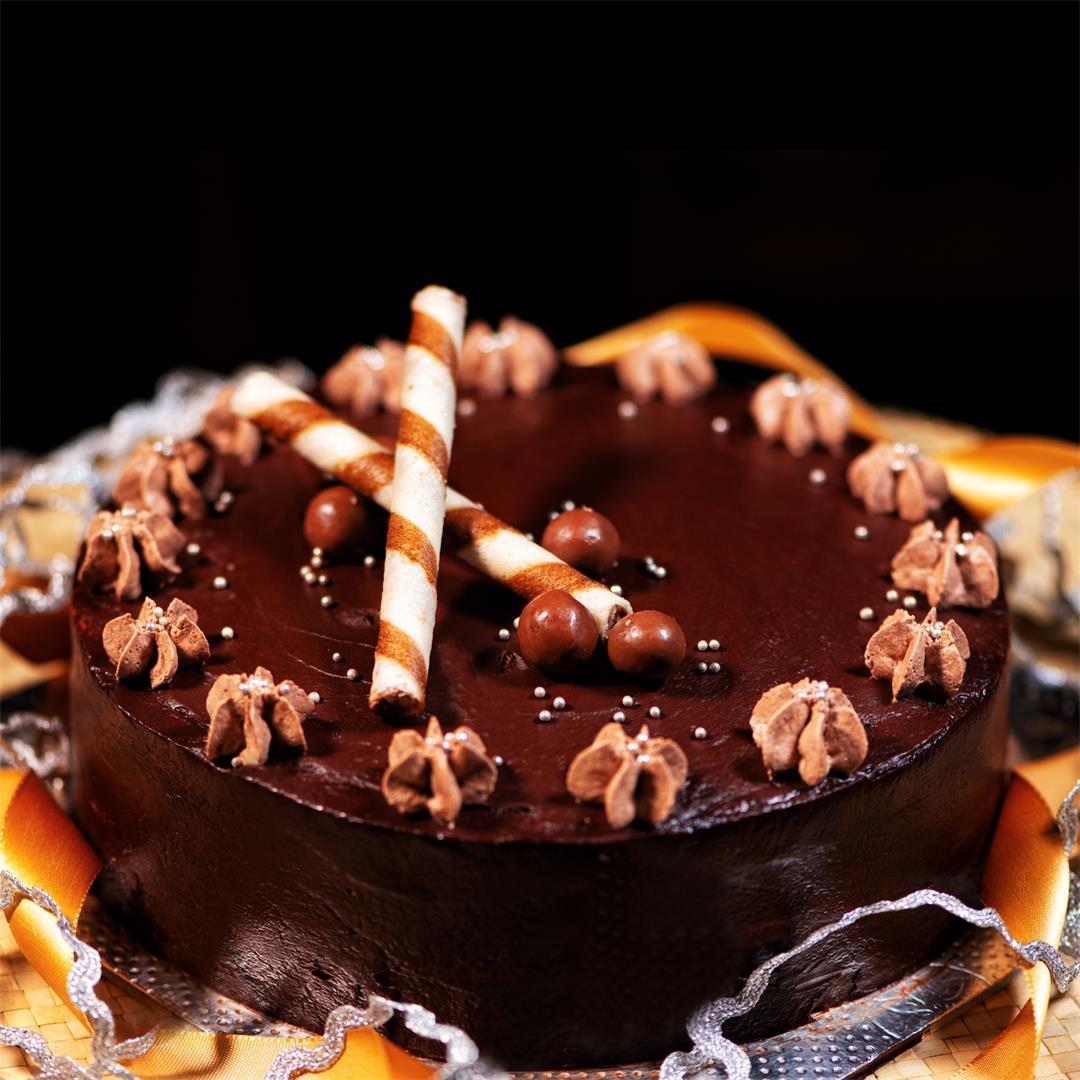 Chocolate Truffle Cake/ Dark Chocolate Truffle recipe
