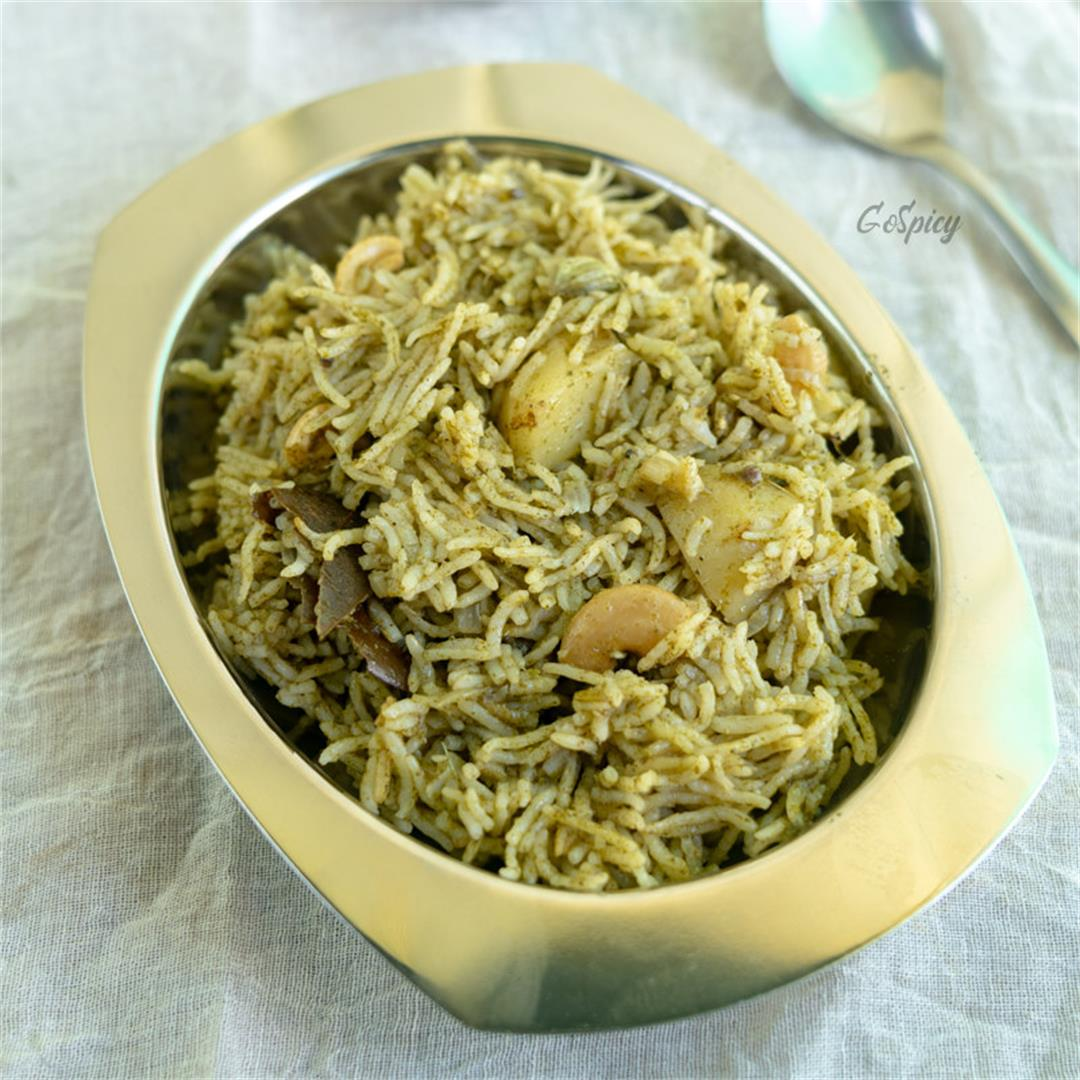 Mint Pulao, Pudina Rice Recipe
