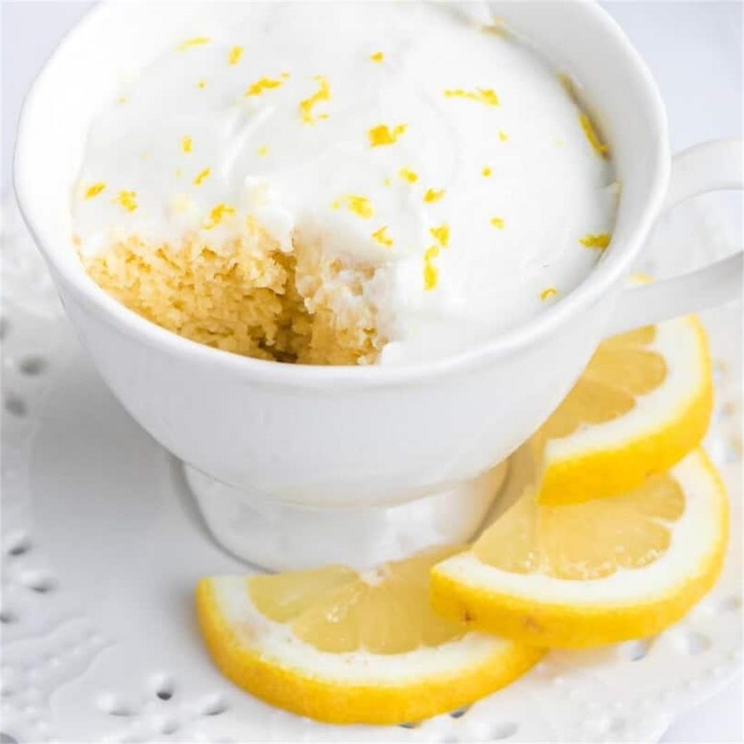 Keto Lemon Mug Cake (Gluten-Free)