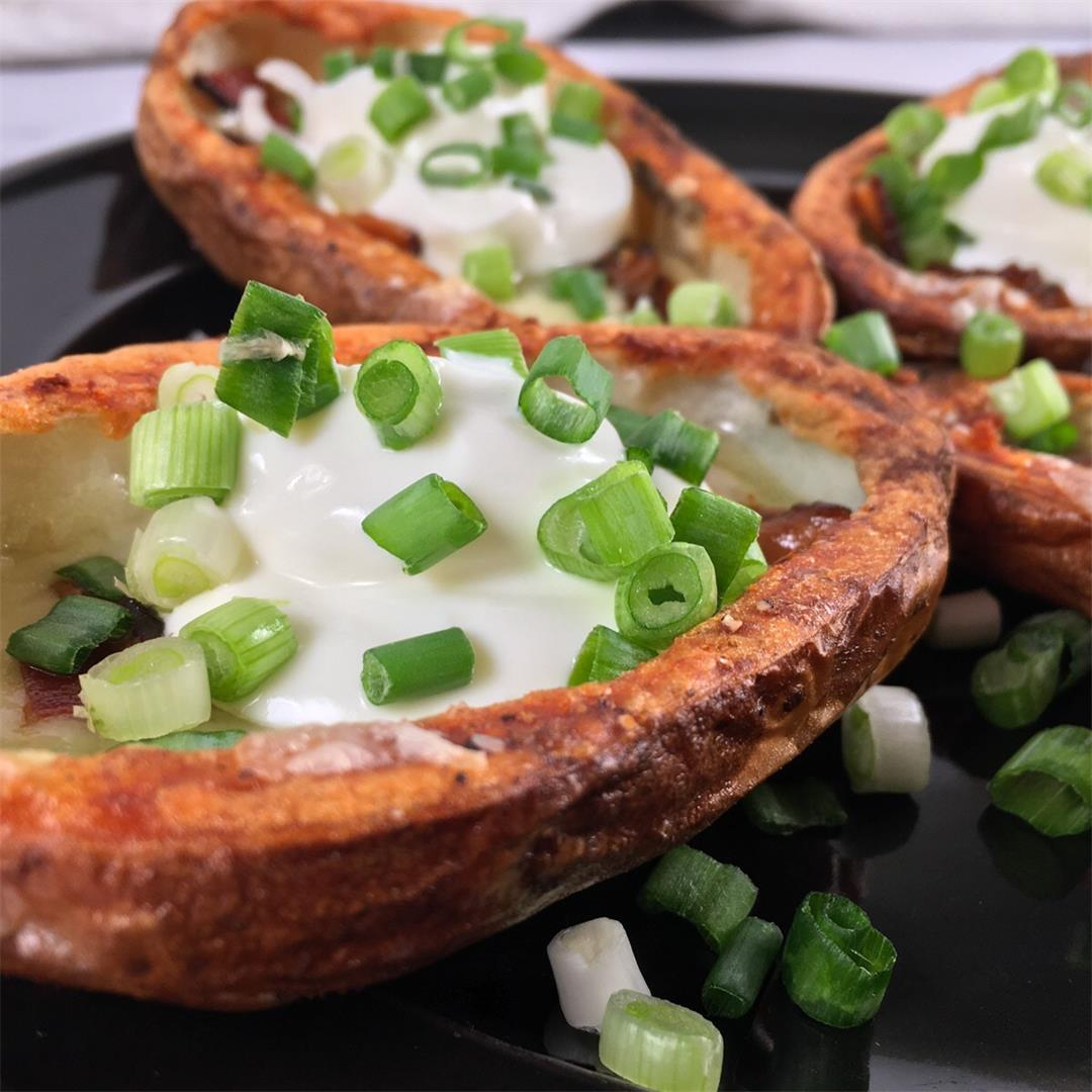 Air Fryer Potato Skins (Recipe + Video!)