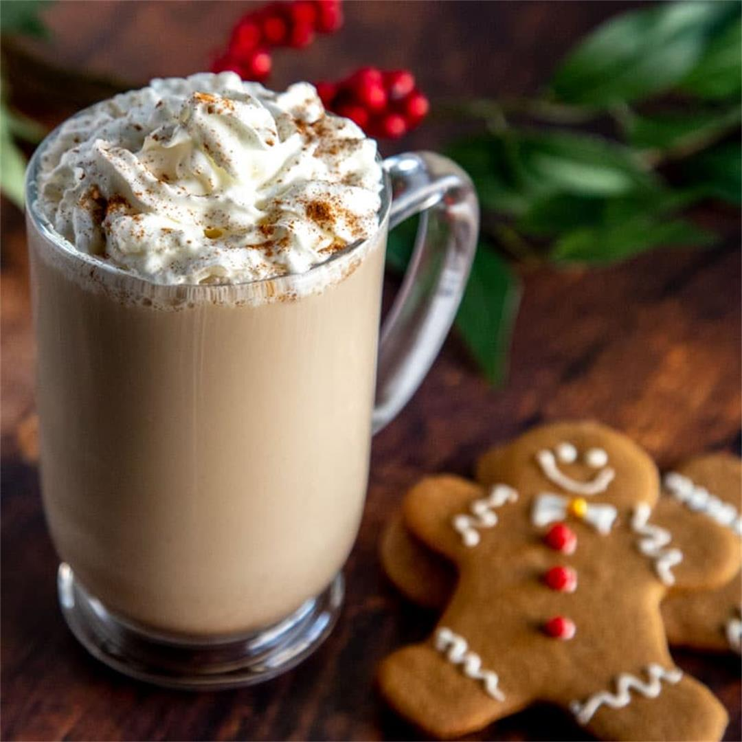 Sweet & Spicy Homemade Gingerbread Latte