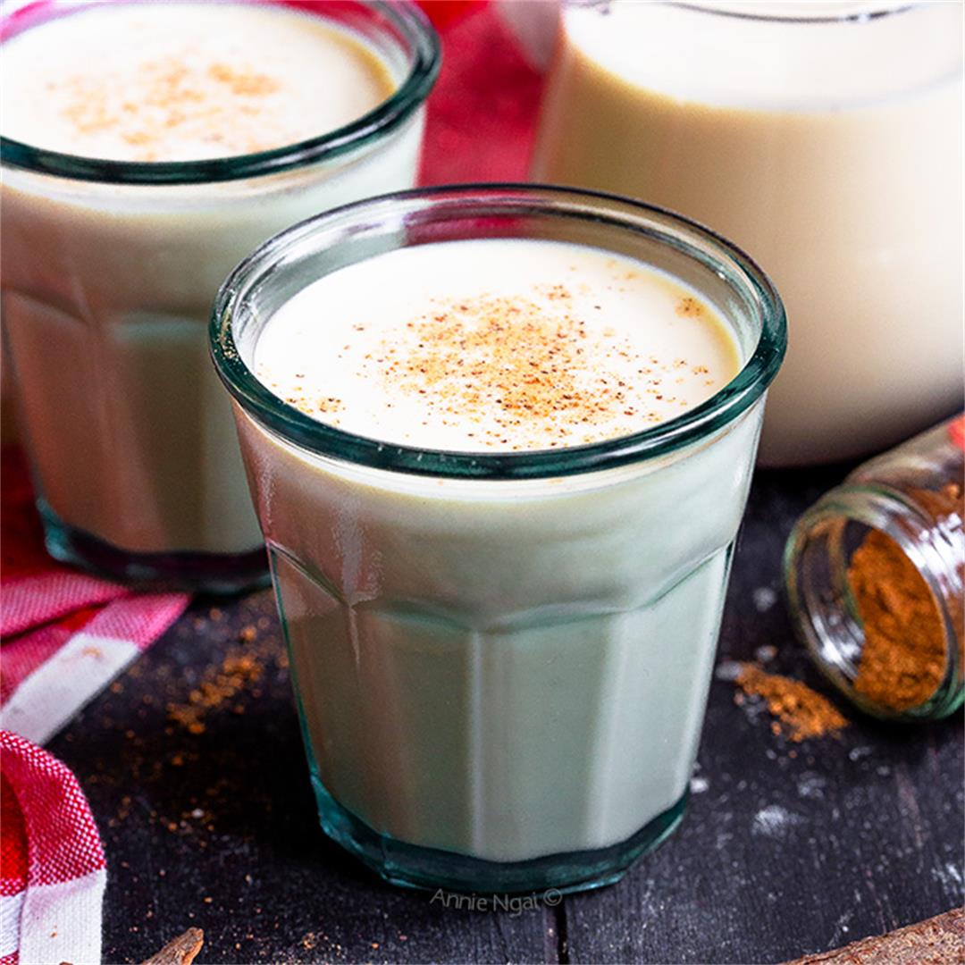 Dairy Free Eggnog {Alcohol Free too!}