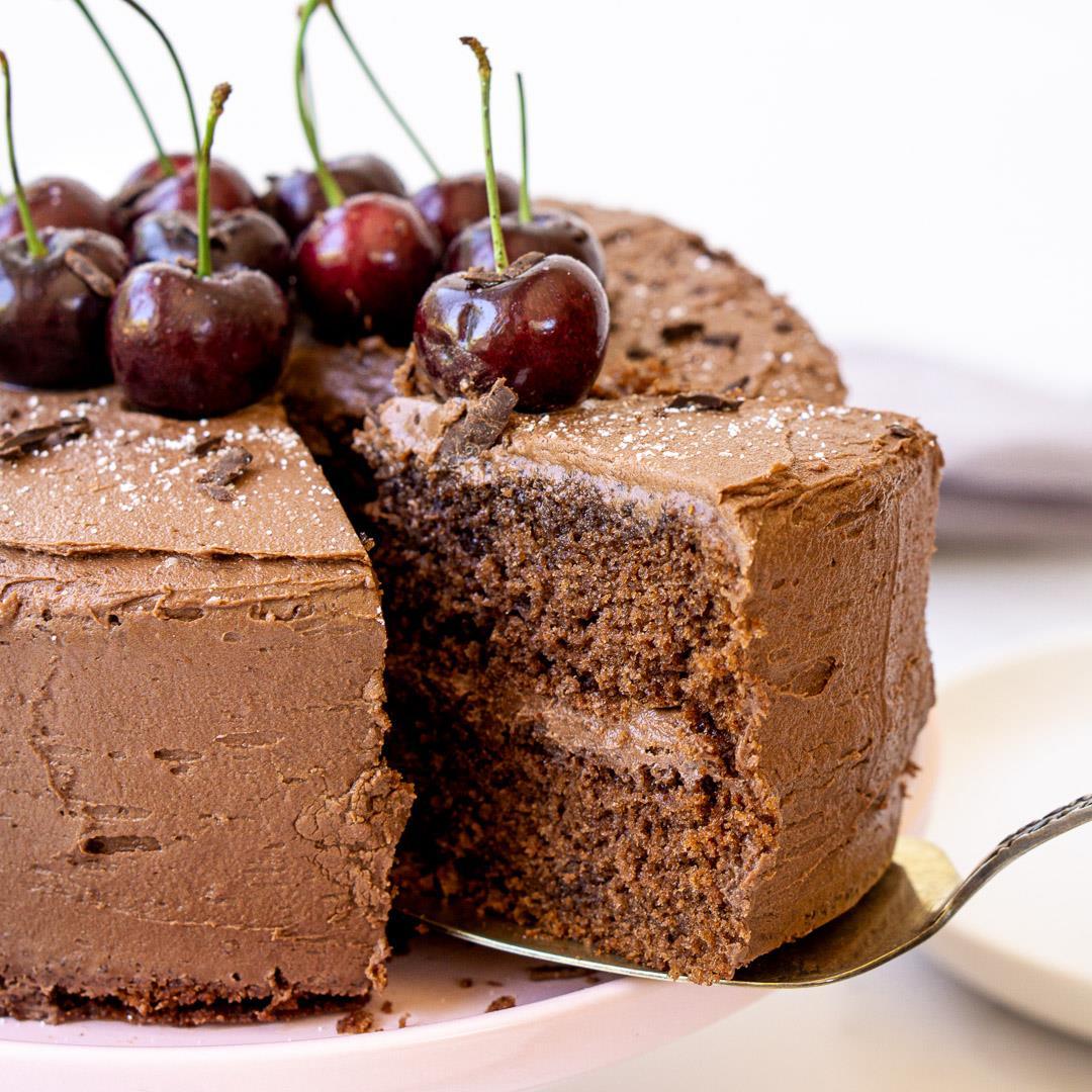 Chocolate & Cherry Cake (Dairy-Free)