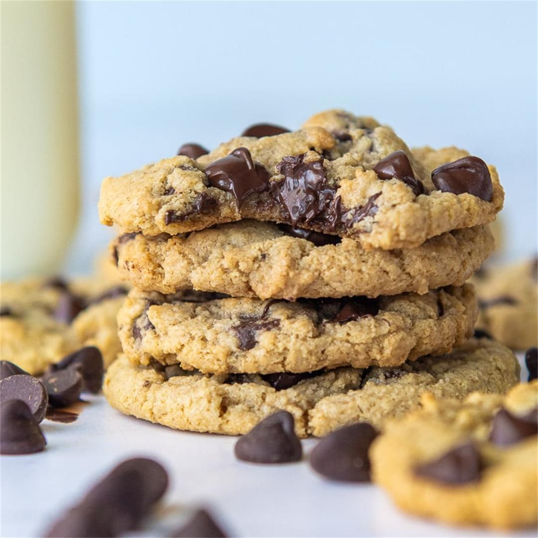 Chocolate Chip Oat Flour Cookies