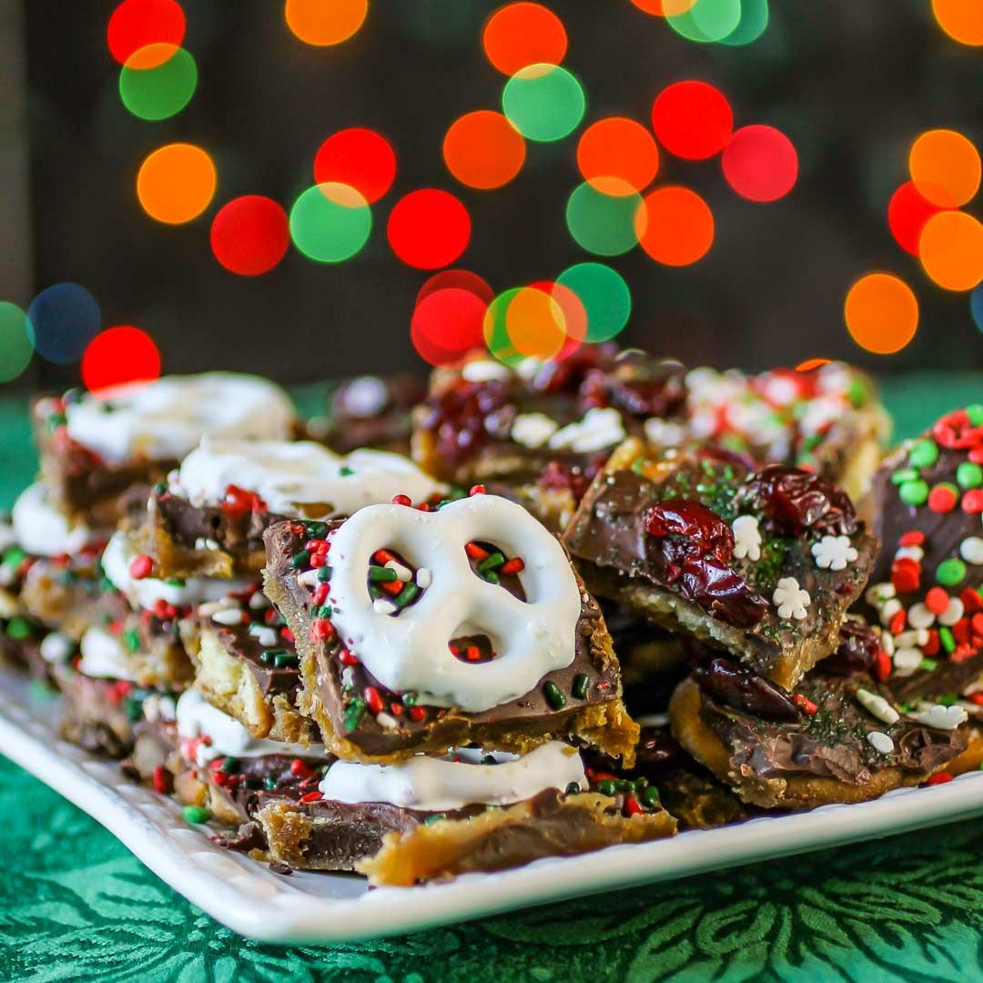 Vanilla Wafer Christmas Bark