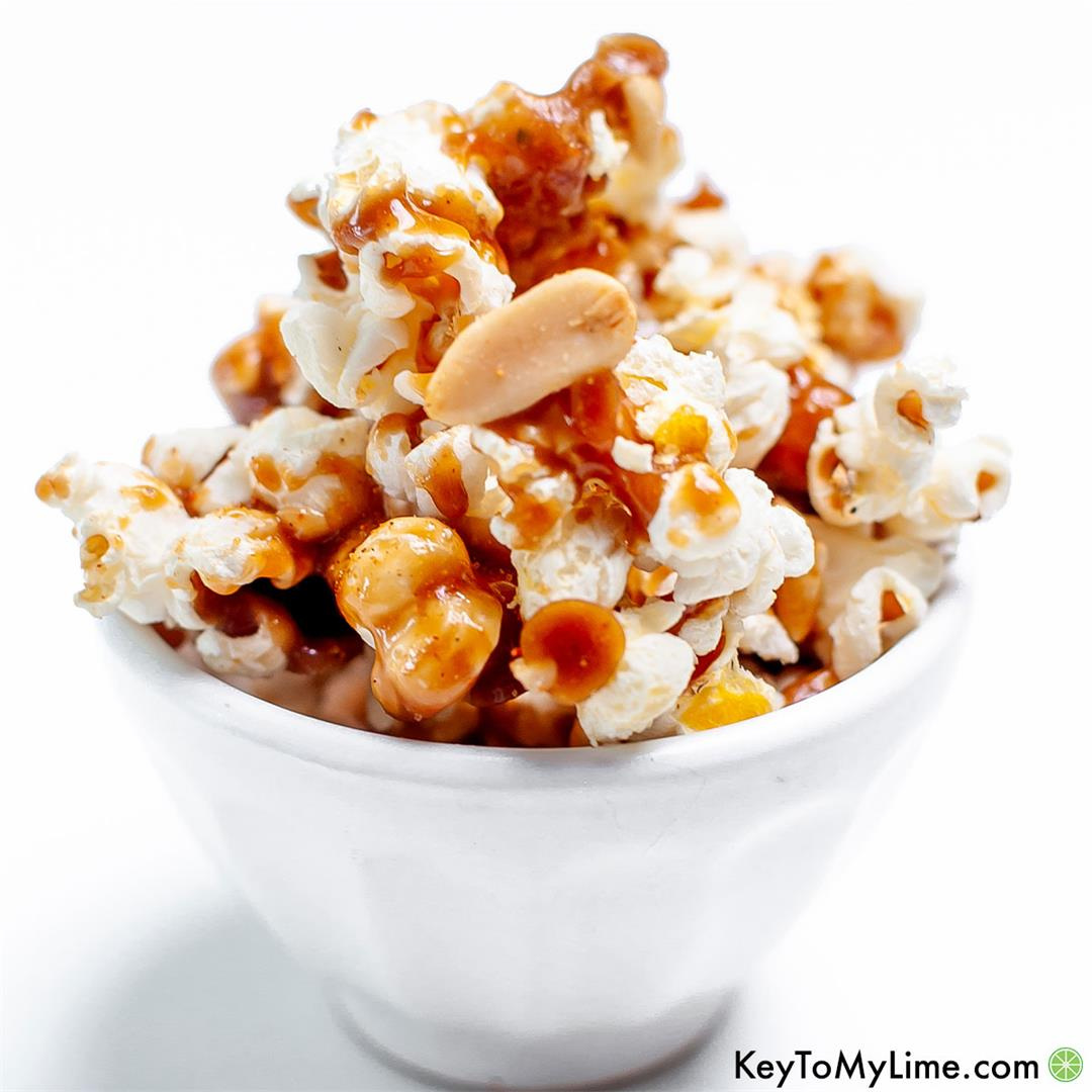 Spicy Caramel Popcorn (Sweet, Salty, Spicy, & Perfect)