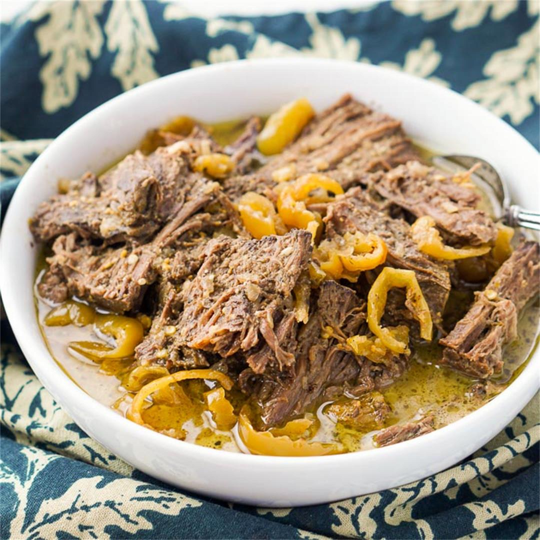 Keto Italian Beef Roast in the Slow Cooker