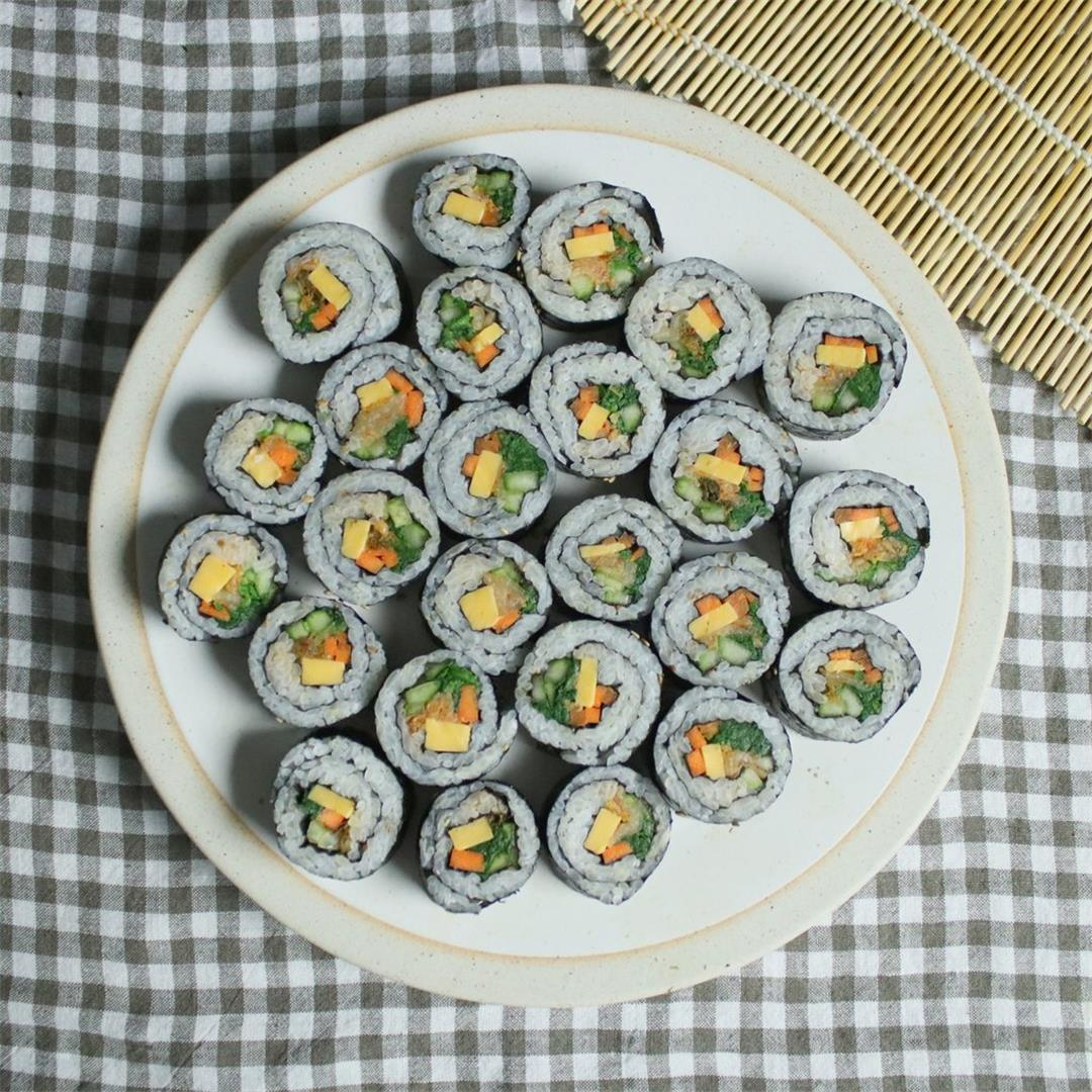 Gimbap korean seaweed rice rolls