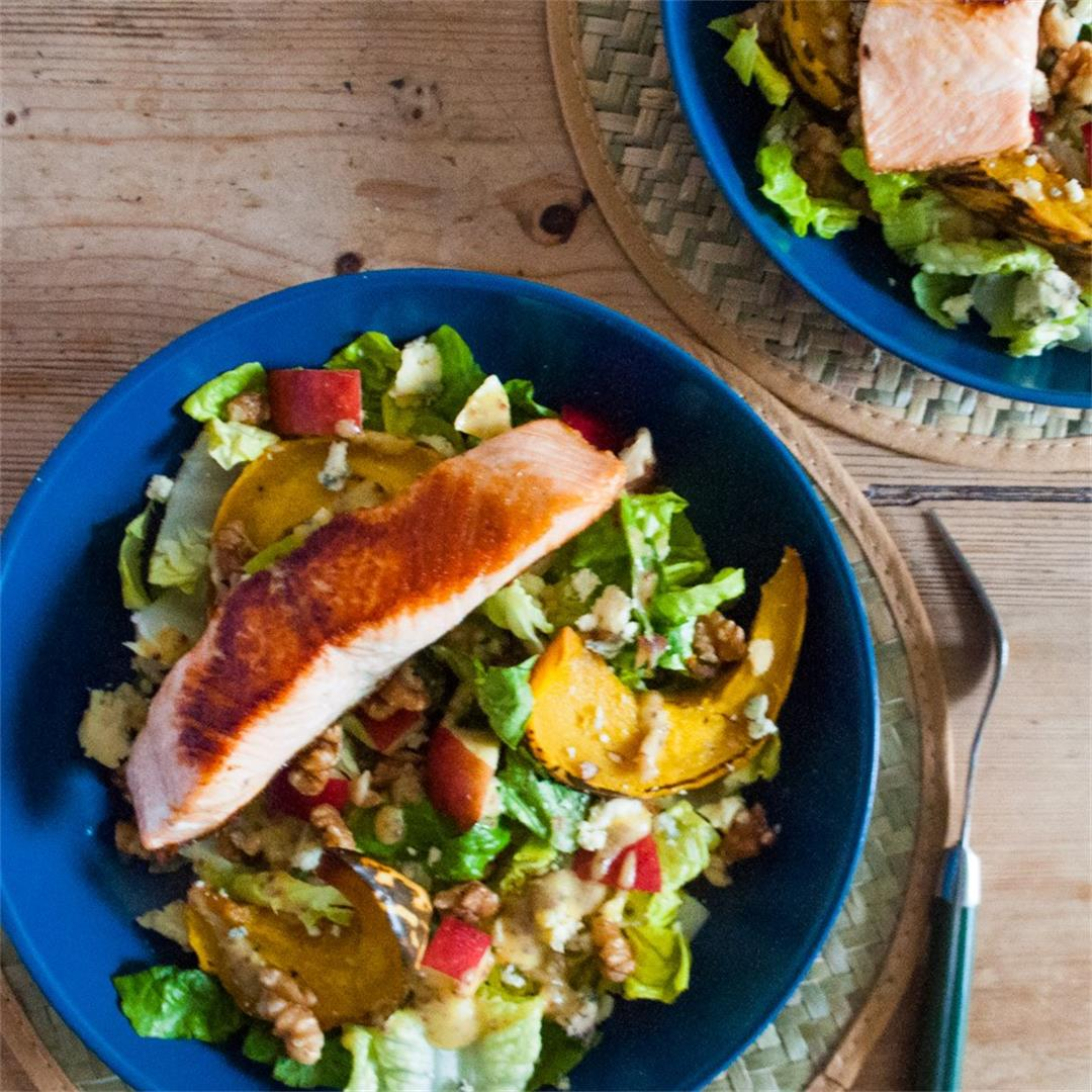 Pumpkin, Apple and Walnut Winter Salad