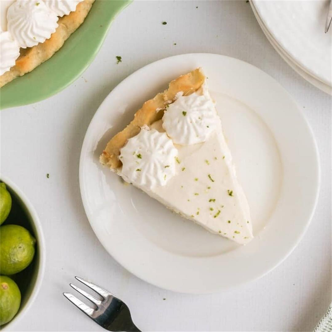 Key Lime Pie with Cream Cheese Crust
