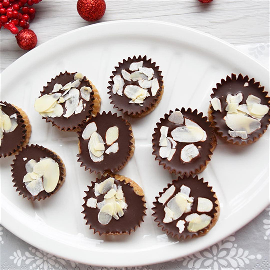 No Bake Almond Mini Cups