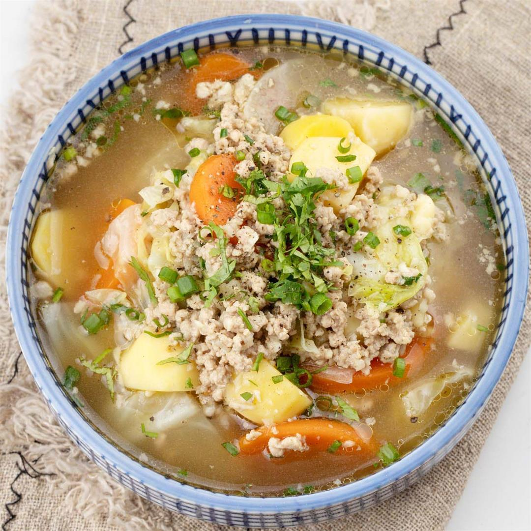 An Asian Cabbage Soup Recipe That's Healthy and Goes Well with