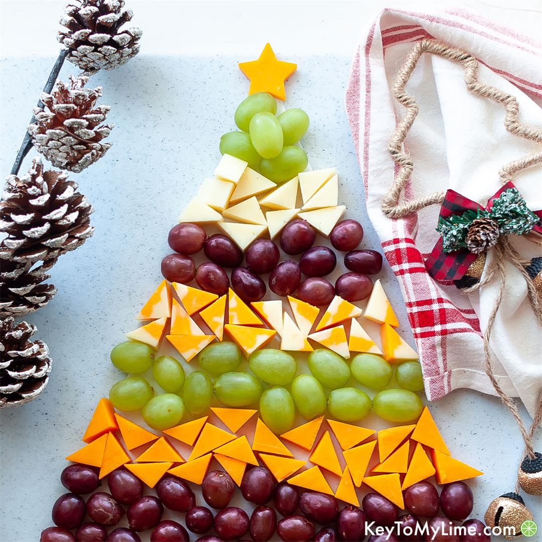 Christmas Tree Cheese Platter: Easy Christmas Eve Appetizer