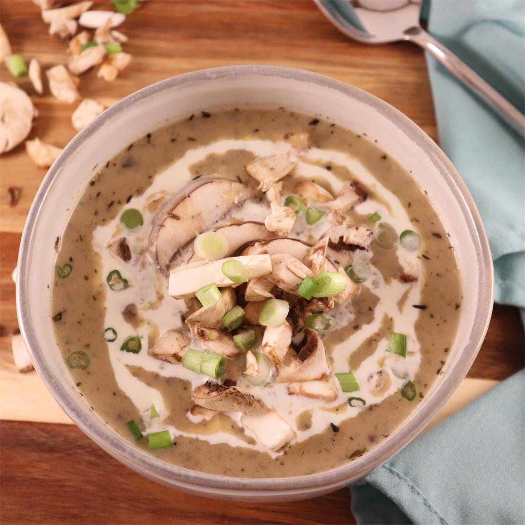 Creamy Mushroom Soup with Baby Bellas