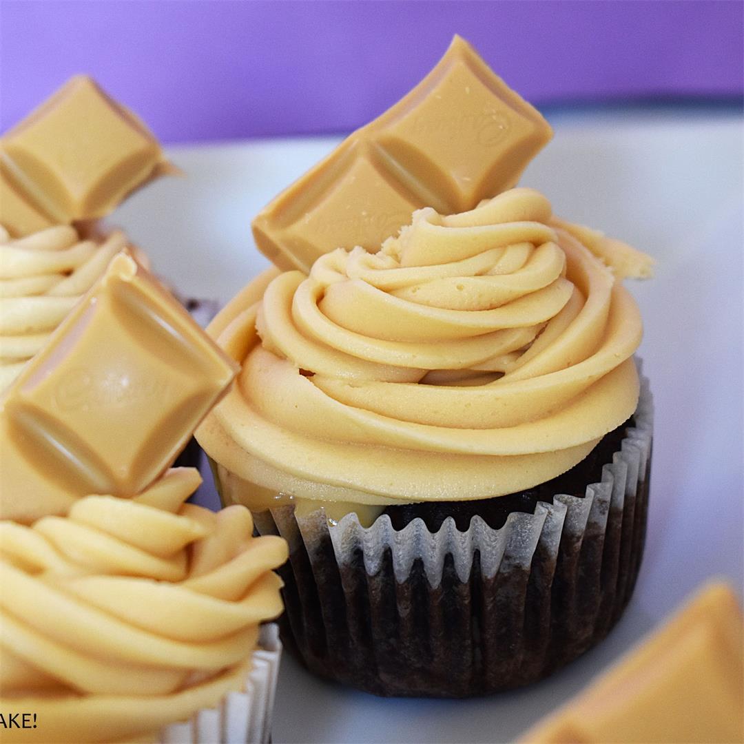 Caramilk Chocolate Cupcakes