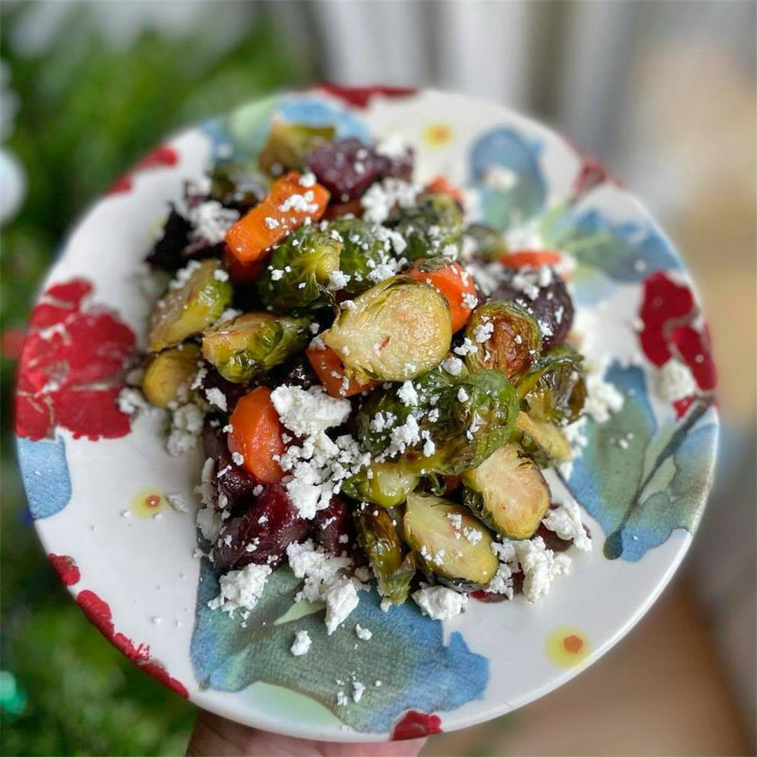Roasted Brussel Sprout & Feta Salad — Tasty Food for Busy Mums