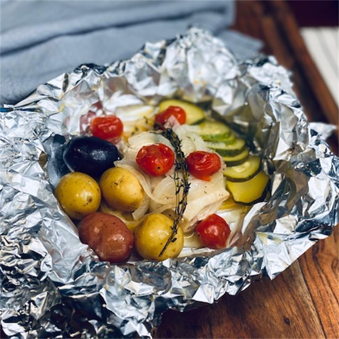 Grilled Mahi Foil Packets