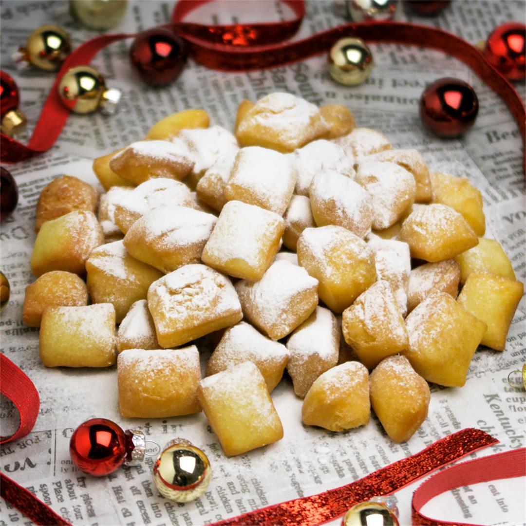 Schmalzkuchen, sweet German Christmas market fritters!