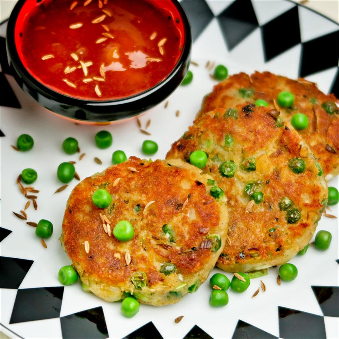 Aloo tikki, Indian spiced potato fritters