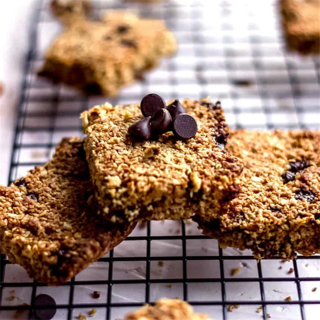 Oatmeal Chocolate Chip Bars (vegan & gluten free)