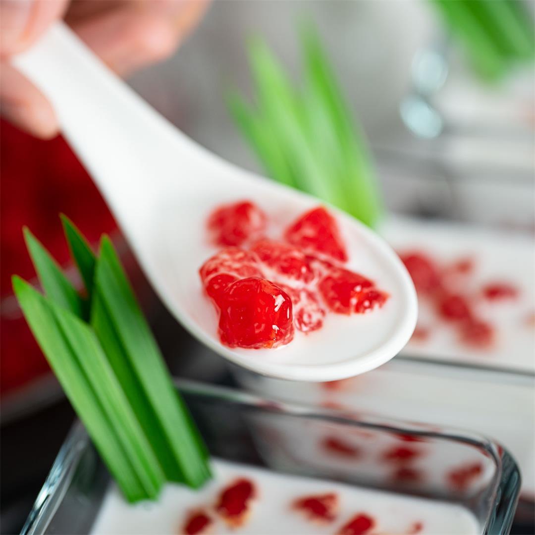 Red Rubies Dessert | Tub Tim Krob