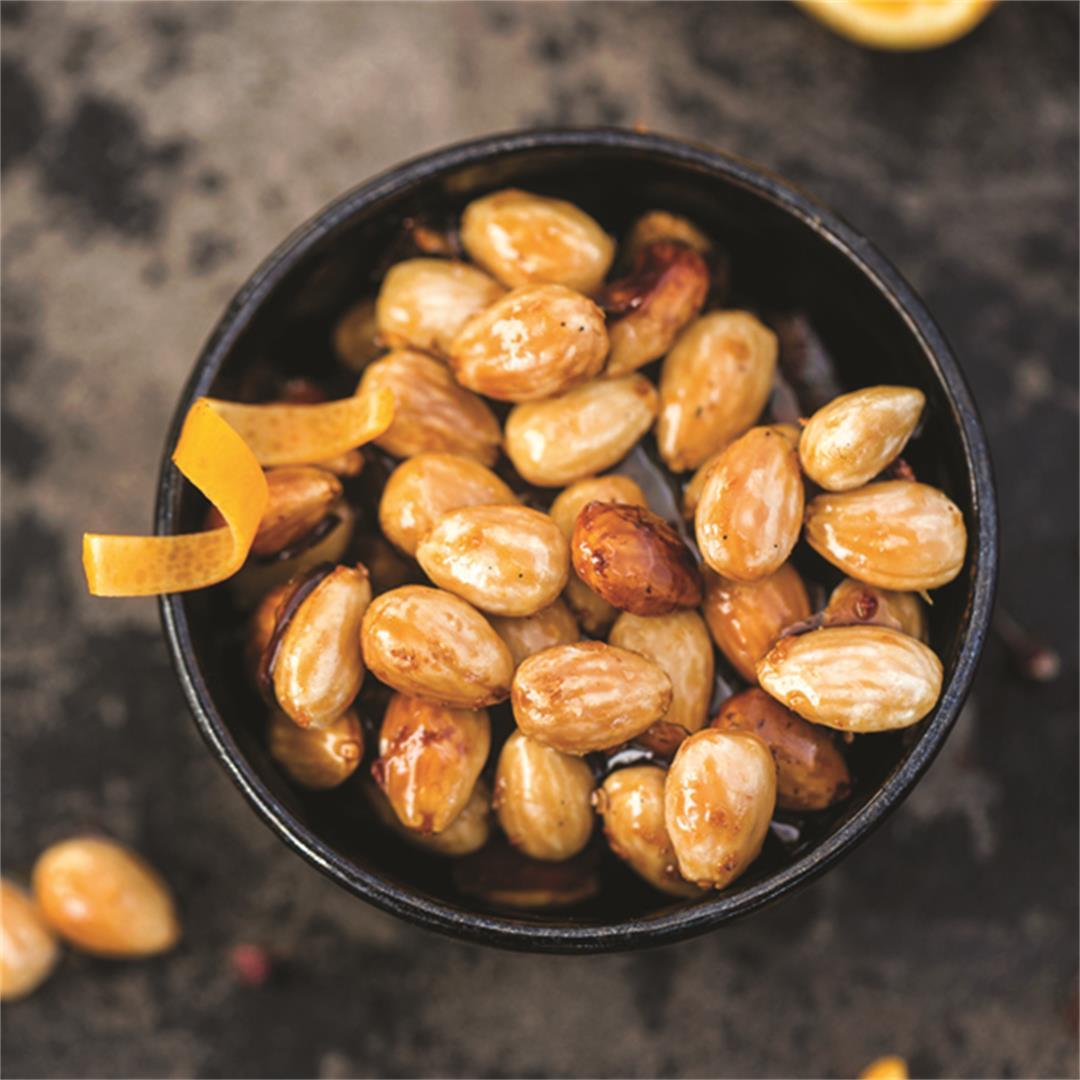 Sichuan Orange Candied Almonds