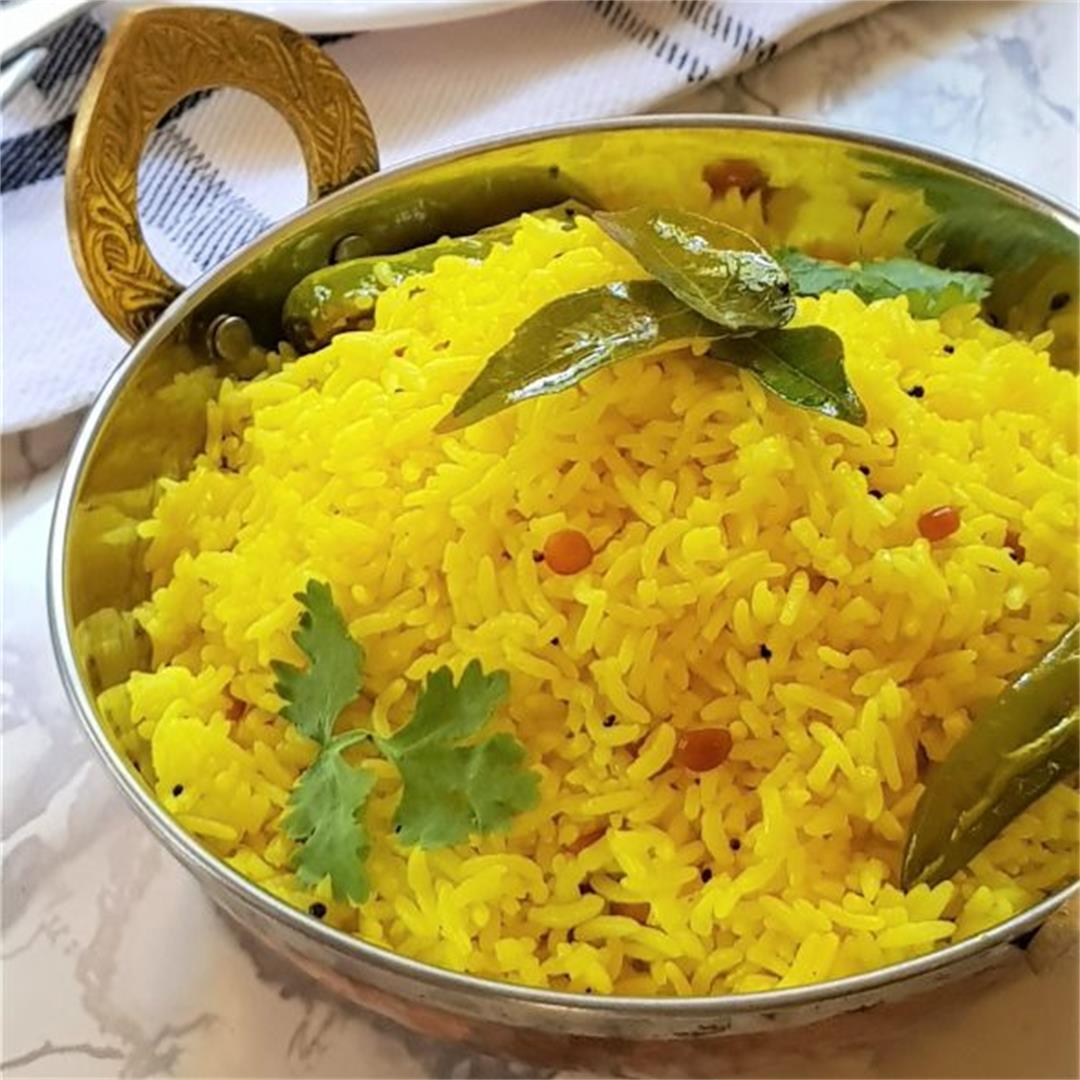 How To Make South Indian Style Lemon Rice Recipe
