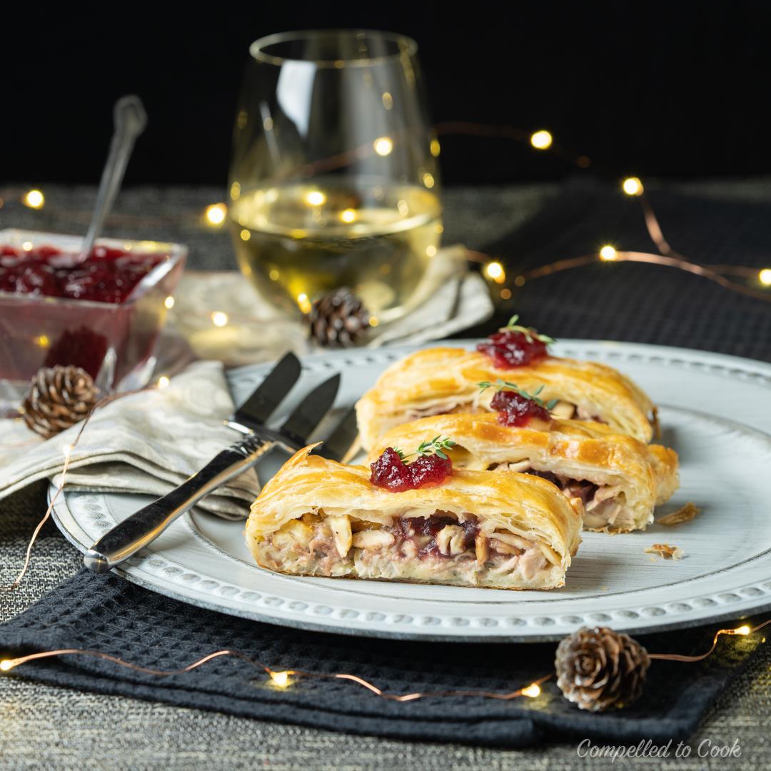Turkey & Chestnut Pastry Slice