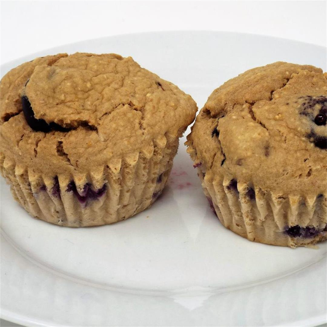 Banana Oat Blueberry Muffins