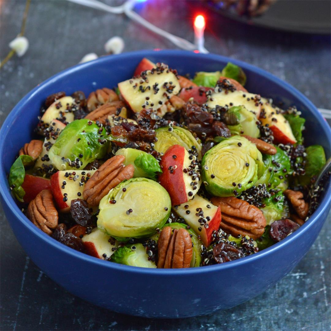 Brussel Sprouts Salad with Black Quinoa & Apple