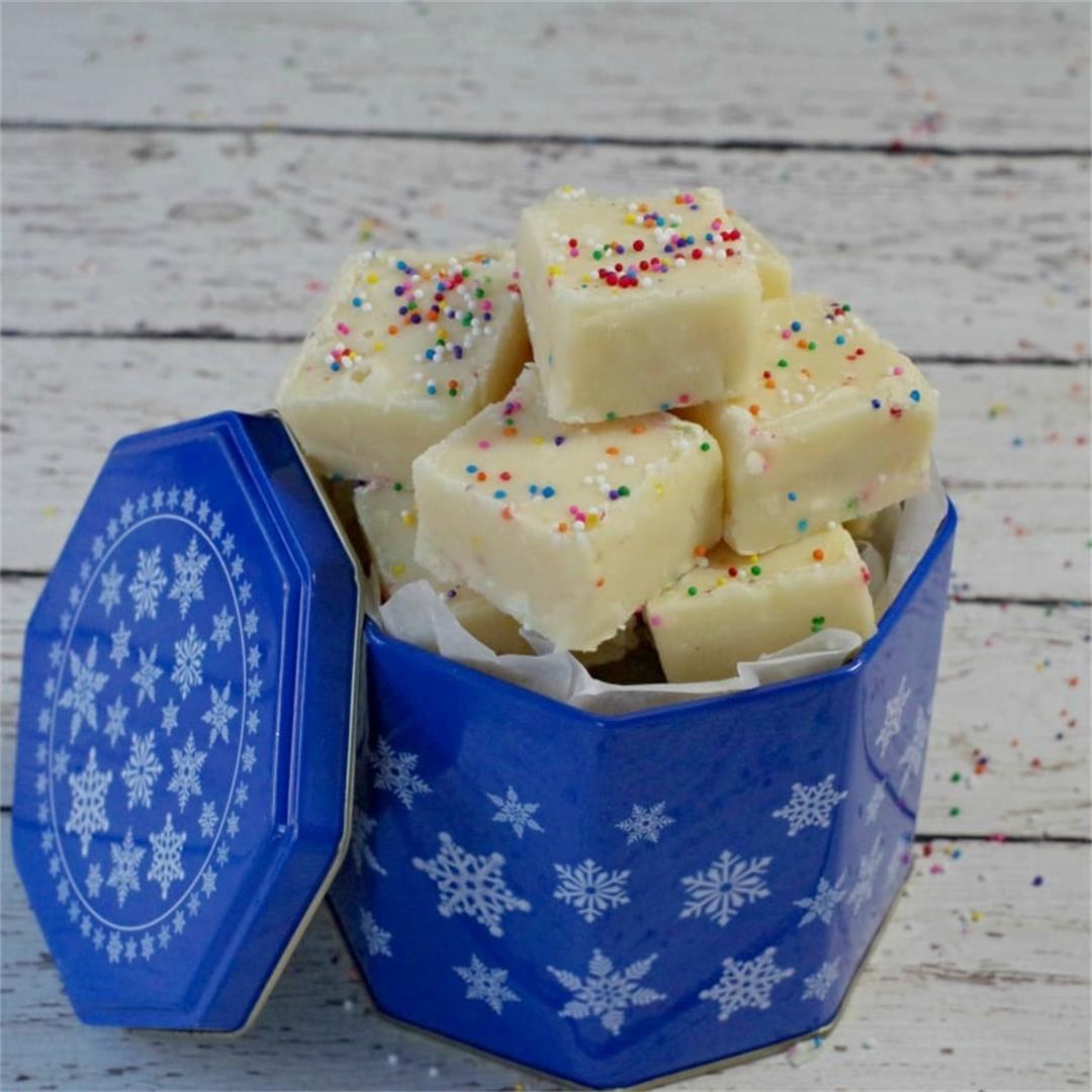 Microwave Sugar Cookie Fudge